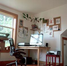 Carson Ellis' workspace