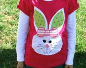 Easter Bunny shirt for girls, toddler and baby