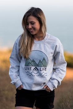 Search – Live Life Clothing Co Lifestyle Clothing, Clothing Co, Cute Sweatshirts, Cute Shirts, Sweatshirt Outfit, Crewneck Sweater, Pullover, Phi Mu Shirts, Tee Shirt Designs