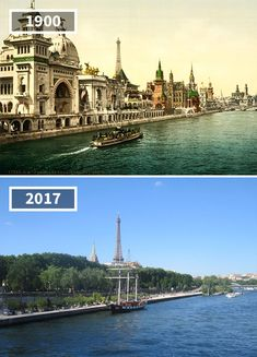 Quai Des Nations, Paris, France, 1900 - 2017 Before & After Pics Showing How The World Has Changed Over Time By Re. Then And Now Pictures, Before And After Pictures, Paris France, Saint Mathieu, Places To Travel, Places To Visit, Photo Voyage, Ville France, Old Paris