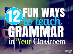 Are you looking for fun ways to teach grammar in your classroom? Grammar can be a beast of it& own. I don& want to say it& the ugly stepsister of teaching, but it can be if it& not implemented in a fun and meaningful way Grammar Games, Grammar Activities, Teaching Grammar, Teaching Writing, Teaching English, Learn English, Teaching Resources, Teaching Ideas, English Grammar
