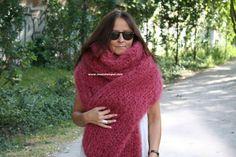 chunky mohair scarf
