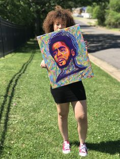 J cole colorful painting ft. J Cole, Colorful Paintings, Names Of Jesus, The Dreamers, Trending Outfits, Handmade Gifts, Artist, Prints, Inspiration
