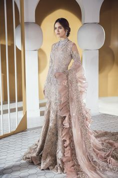 Top Pakistani Bridal Designers And Their Festive Wear Cost - MyStyles Walima Dress, Pakistani Formal Dresses, Pakistani Wedding Dresses, Pakistani Dress Design, Pakistani Bridal Couture, Pakistani Party Wear, Desi Wedding Dresses, Asian Wedding Dress, Party Wear Dresses