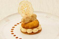 Tartelette Tatin dekonstruiert mit Vanille-Karamell-Eis von Annetts kulinarisches Tagebuch