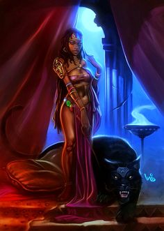 African Princess and her Pet by waltbarna.deviantart.com on @deviantART