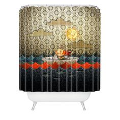 Jose Luis Guerrero Paper Boat Shower Curtain | DENY Designs Home Accessories