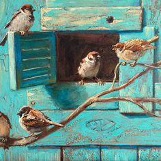 No photo description available. Bird Artwork, Wildlife Art, Animal Paintings, Medium Art, Beautiful Paintings, Painting Inspiration, Pet Birds, Painting & Drawing, Amazing Art