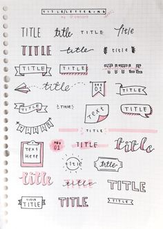 Bullet Journal Setup Ideas {The layouts your BUJO might be missing!} Take your bujo to the next level with these creative Bullet Journal setup ideas (that you can adopt at any time of the year! Bullet Journal Inspo, Organization Bullet Journal, Bullet Journal Headers, Bullet Journal Title Fonts, Bullet Journal Banner, Bullet Journal Beginning, Bullet Journal Ideas Handwriting, Cute Handwriting Fonts, Borders Bullet Journal