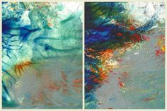 Original Abstract Palette Paintings  Set of 2 by AdventurousRabbit, $24.00