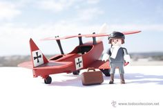 Playmobil Custom - El Barón Rojo - Manfred von Richthofen - Avión - 100% Playmobil