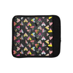 Kess InHouse Louise Machado 'Pieces of Heart' Pink Yellow Luggage Handle Wrap