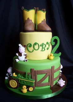 John Deere birthday cake for your child's next party at PowerPlay! Childs birthday part Kansas City