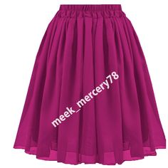 Belly Dance Lavender Color** Chiffon Casual Sexy Skirts Women Elastic Waist C27 Handsome Appearance Clothing, Shoes & Accessories Skirts