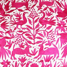 Pink Otomi Blanket - Mexico