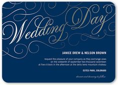 Our Charming Day 5x7 Wedding Invitations by Yours Truly. Send guests a wedding invitation that perfectly expresses your style. All you need are the details of your big day.