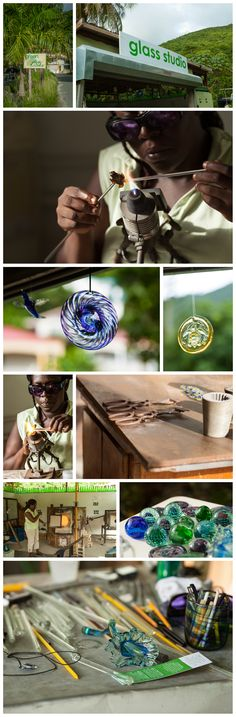 Glass blowing in Cane Garden Bay