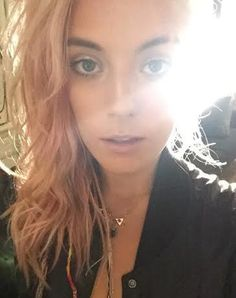 Model Chloe Norgaard takes a selfie in Galactic Birthstone Necklace $52 by Nina Berenato Jewelry : Handmade in Austin, TX USA