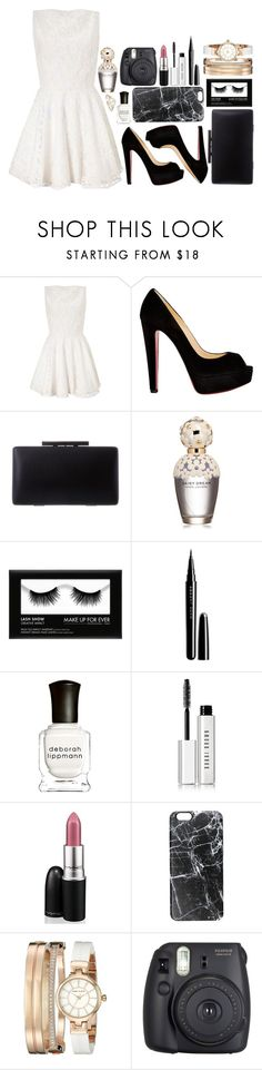 """Winter Formal"" by antisocial-vagabond ❤ liked on Polyvore featuring Lipsy, Christian Louboutin, Marc Jacobs, Deborah Lippmann, Bobbi Brown Cosmetics, MAC Cosmetics, Casetify, Anne Klein, Fuji and Effy Jewelry"