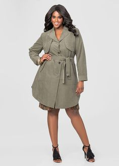 Storm Flap Belted Trench