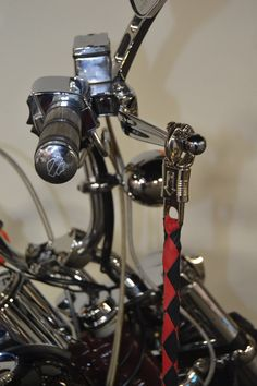 The get back whip used to be used by 1% bikers to let everyone know what club they rode with and could be easily released from the brake and clutch lever to be used as a whip. Times have changed and so has the law regarding their use in some places. Regardless, they still make … Continue reading BLACK RED 42″ LEATHER GET BACK WHIP