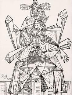 Femme assise dans une chaise (Dora), 1938