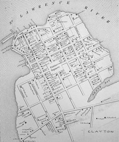 Much of the novel is set in Clayton, New York, in The features varied little in 1862 when this map was drawn. The Johnston house was near the wharf in the upper left. Newspaper Headlines, War Of 1812, Genealogy, Counter, Novels, Map, York, House, Home