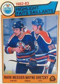 O-Pee-Chee Mark Messier and Wayne Gretzky Bruins Hockey, Ice Hockey, Hockey Cards, Baseball Cards, Mark Messier, D Mark, Hockey World, Wayne Gretzky, Edmonton Oilers