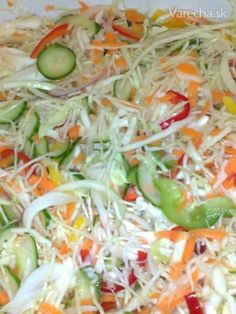 Čalamáda ktorú ľúbime Canning Recipes, Salad Recipes, Healthy Salads, Healthy Recipes, Czech Recipes, Fermented Foods, Food To Make, Healthy Living, Food And Drink