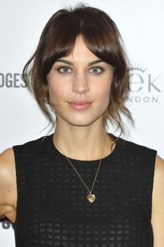"Perfect Match! 'Dos & Dresses For Every Fete #refinery29  http://www.refinery29.com/2014/01/60438/party-hairstyles-for-cocktail-dresses#slide8  Or, you can opt to put everything up! We love the softness of Alexa Chung's updo for a one-shoulder dress. And, a side note: ""If you have dark hair, this is a great example of when to wear your hair up so that your dress doesn't blend in with your hair,"" says Toth. He advises finishing the soft style with Ted Gibson Beautiful Hold Hairspray, so that…"