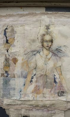 Kate Thompson (fabric collage, pastels, watercolors, gesso)