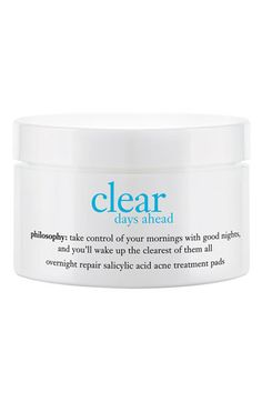 philosophy 'clear days ahead overnight repair' acne treatment pads   Nordstrom