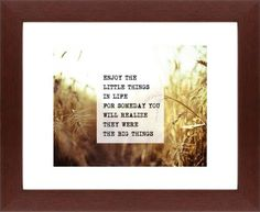 The Little Things Framed Print, Brown, Contemporary, None, White, Single piece, 8 x 10 inches, White