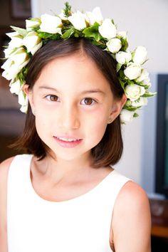 Cute look for flower girls- Haku Lei