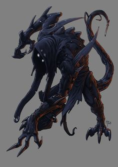 Shadow demon by on DeviantArt Shadow Creatures, Dark Creatures, Mythical Creatures, Shadow Monster, Monster Art, Monster Hunter, Monster Concept Art, Fantasy Monster, Creature Concept Art