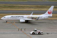 Japan Airlines, Boeing 737-800, JA329J, Tokyo Disney Resort livery, Tokyo Haneda