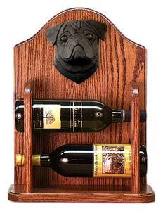 Black Pug Dog Wine Bottle Holder