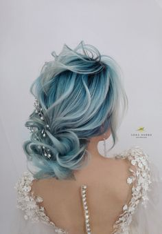 Special updo // bridal look // see more on my Facebook page Adda Dobre Hairdesigner Bridal Updo, Bridal Looks, My Beauty, Blue Hair, Updos, Hairstyle, Facebook, Photo And Video, Disney Princess