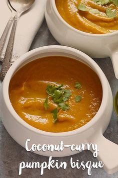This coconut curry pumpkin bisque is an internationally-inspired delight! How can you go wrong with this creamy bisque recipe?