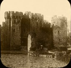 Bodiam Castle East Sussex from a photographic slide (Digital Image) Bodiam Castle, East Sussex, Cathedrals, Digital Image, Castles, Wildlife, British, Landscape, Pictures