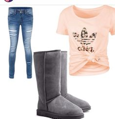 Cute shirt with Uggs;)