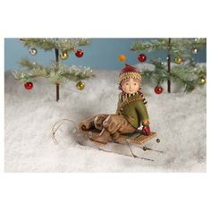 Nordic Boy on Sled - 20% Off Through July 14th
