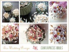 Eco wedding design : Centrotavola Sfera per un Matrimonio Eco friendly