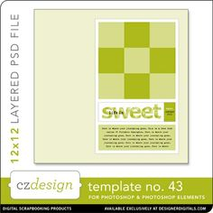 Cathy Zielske's Layered Template No. 043 - Digital Scrapbooking Templates