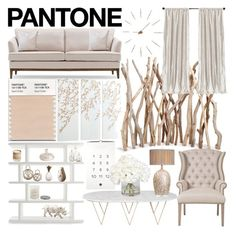 """""""Pantone Color Swatch: Living Room"""" by littlegirlbre ❤ liked on Polyvore featuring interior, interiors, interior design, home, home decor, interior decorating, Orient Express Furniture, TemaHome, Free People and Arteriors"""