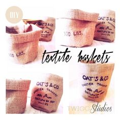 textile baskets diy