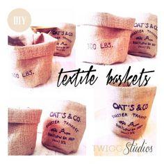 textile baskets diy