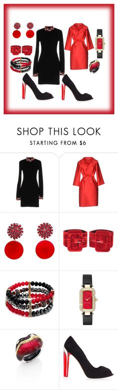 """""""Red& Black Sophisto"""" by deirdre35 on Polyvore featuring Emilio Pucci, P.A.R.O.S.H., Marni, Attico, New Directions, Marc Jacobs, Alexis Bittar and Alexander McQueen"""