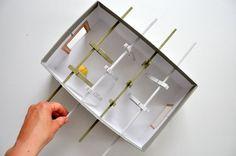 Cipősdoboz csocsó gyerekeknek - Masni / Shoebox table soccer game for kids DIY