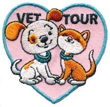"Vet Tour Fun Patch $0.79 - Tie into Girl Scout Daisy Petal ""Respect Authority"""